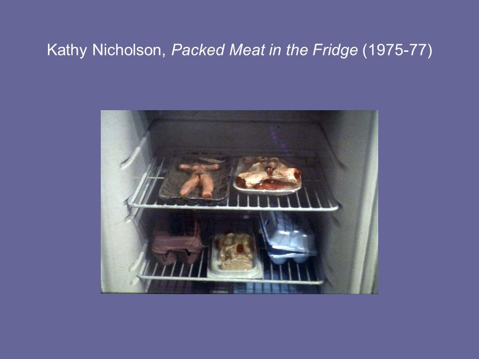 Kathy Nicholson, Packed Meat in the Fridge (1975-77)