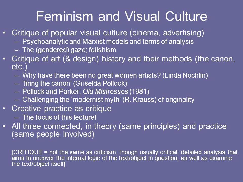 Feminism and Visual Culture