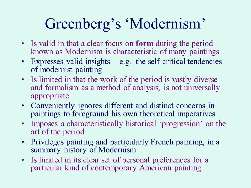 greenberg modernist painting