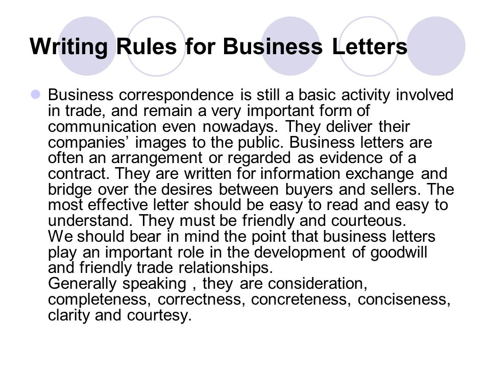 Business Correspondence Ppt Download