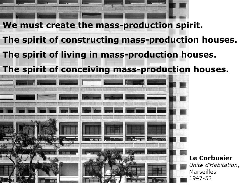 We must create the mass-production spirit.