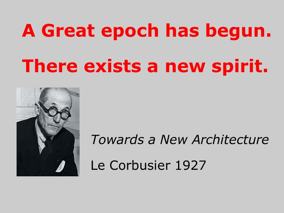A Great epoch has begun. There exists a new spirit.
