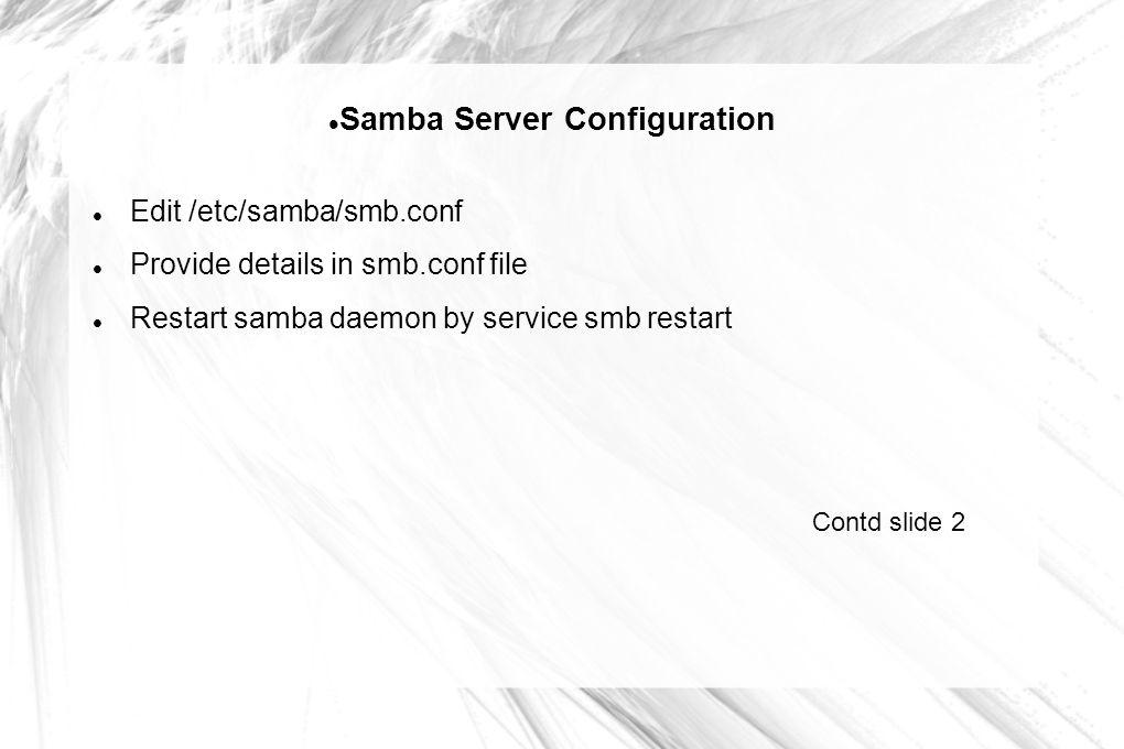 Samba Server Configuration - ppt download