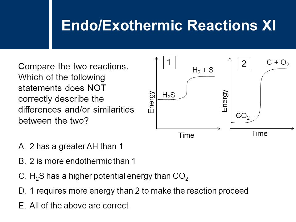similarities between endothermic and exothermic