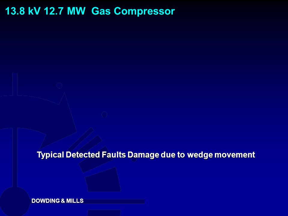 Typical Detected Faults Damage due to wedge movement
