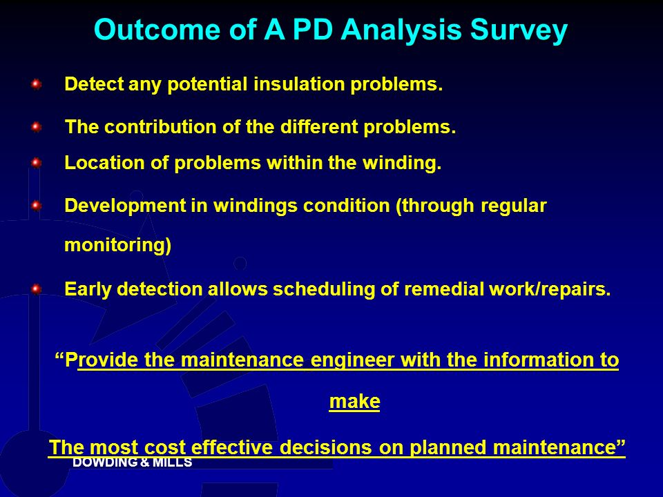 Outcome of A PD Analysis Survey