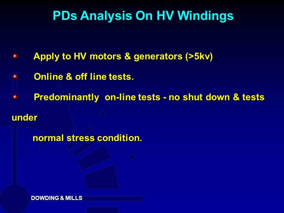 PDs Analysis On HV Windings