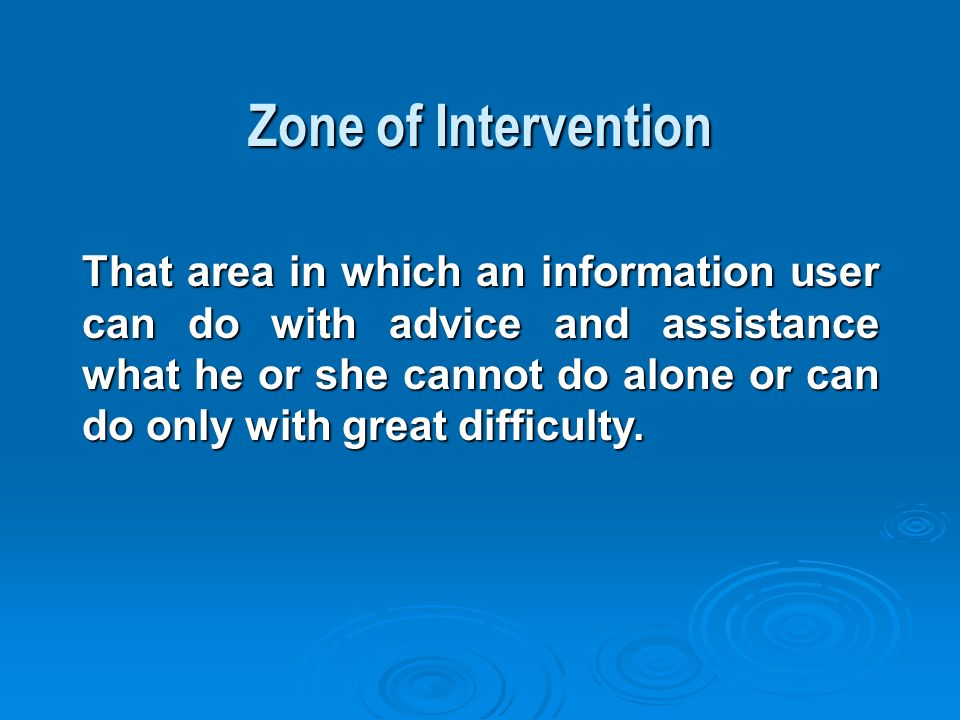 Zone of Intervention