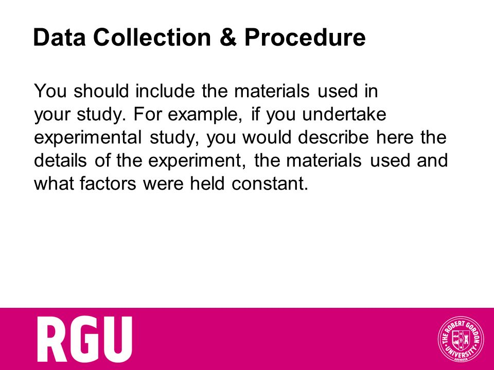 Data Collection & Procedure