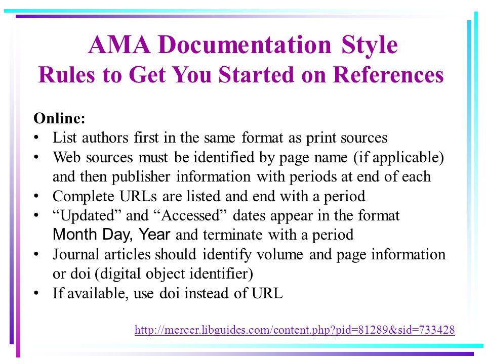 ama citation format website