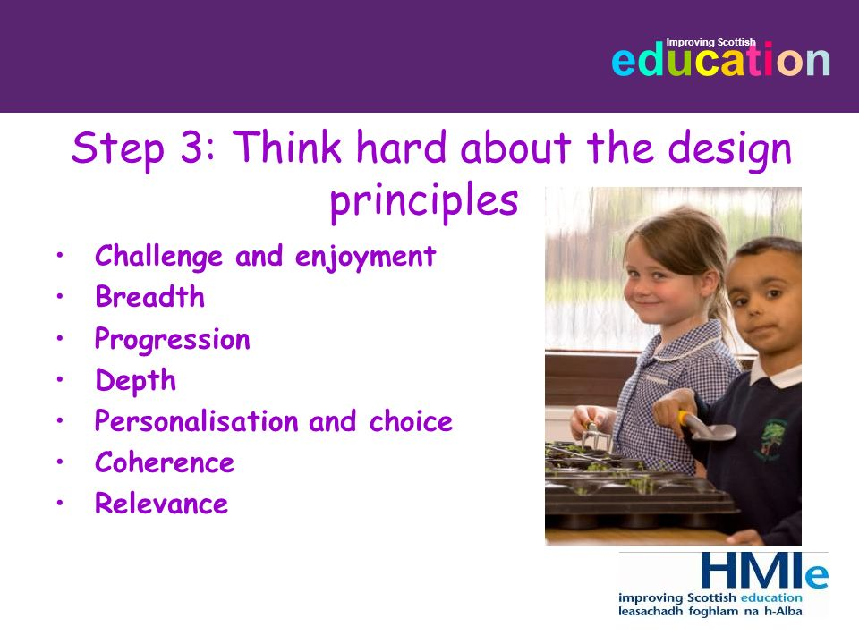 Step 3: Think hard about the design principles