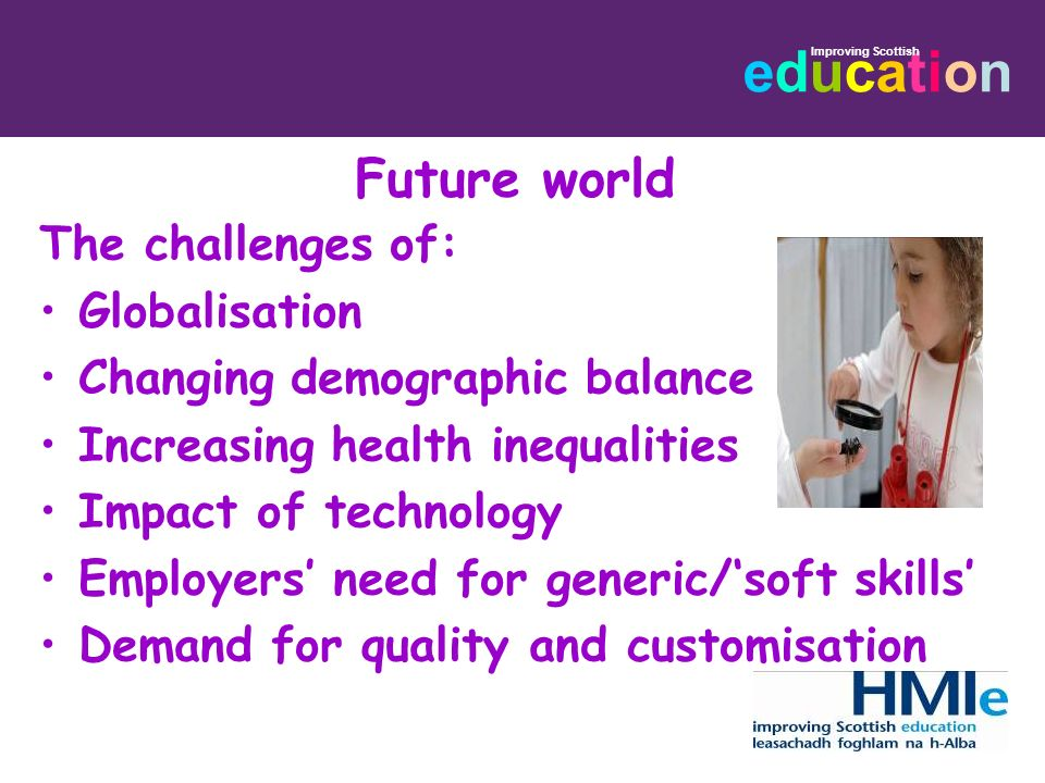 Future world The challenges of: Globalisation