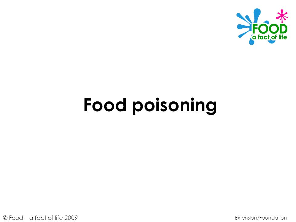 Food poisoning Extension/Foundation