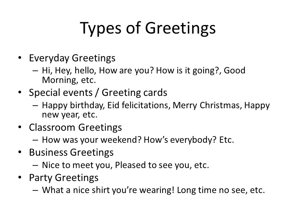 Social interaction greetings and gratitude ppt video online download types of greetings everyday greetings special events greeting cards m4hsunfo