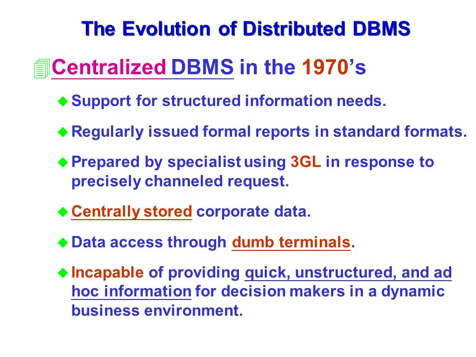 Chapter 10 Distributed Database Management System - ppt