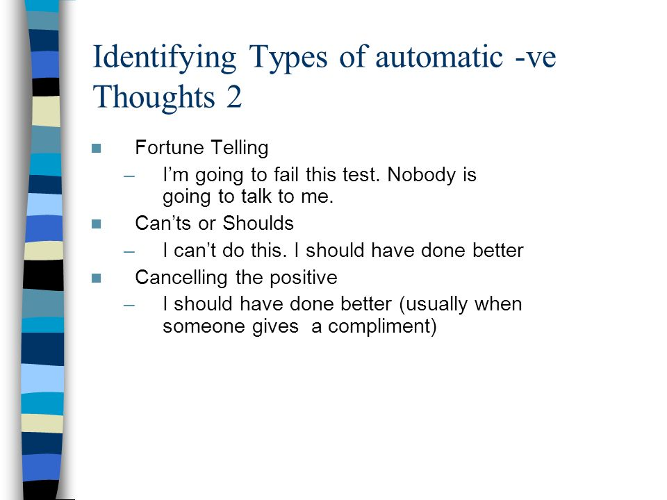 Identifying Types of automatic -ve Thoughts 2