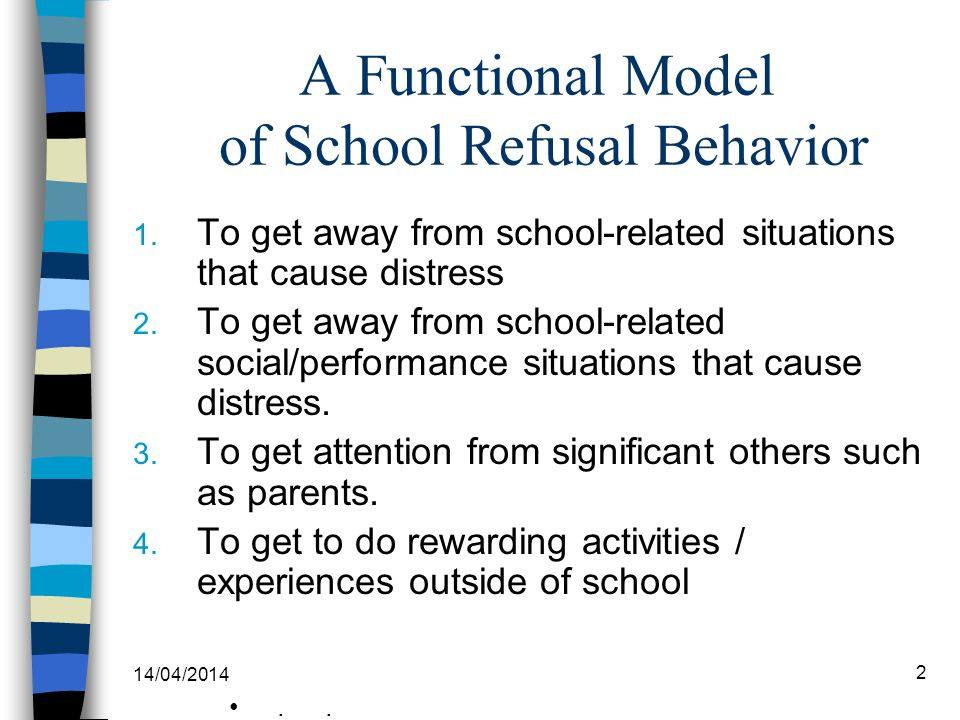 A Functional Model of School Refusal Behavior