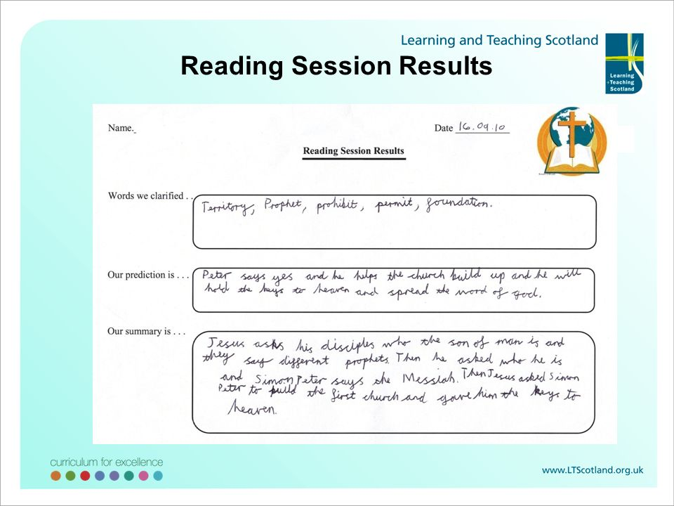 Reading Session Results