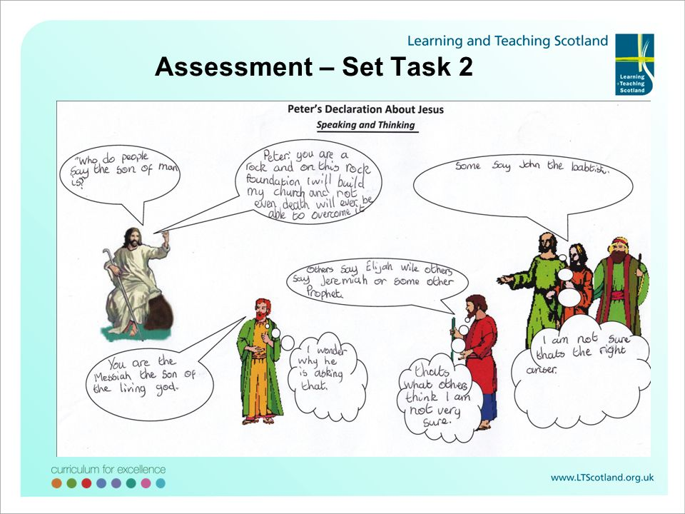 Assessment – Set Task 2 The next task allowed me to develop the understanding and also to assess where each learner was in their attainment.