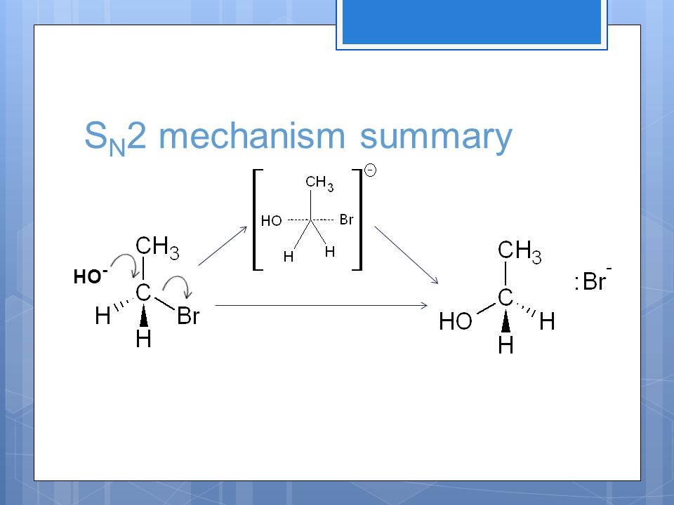 SN2 mechanism summary HO-