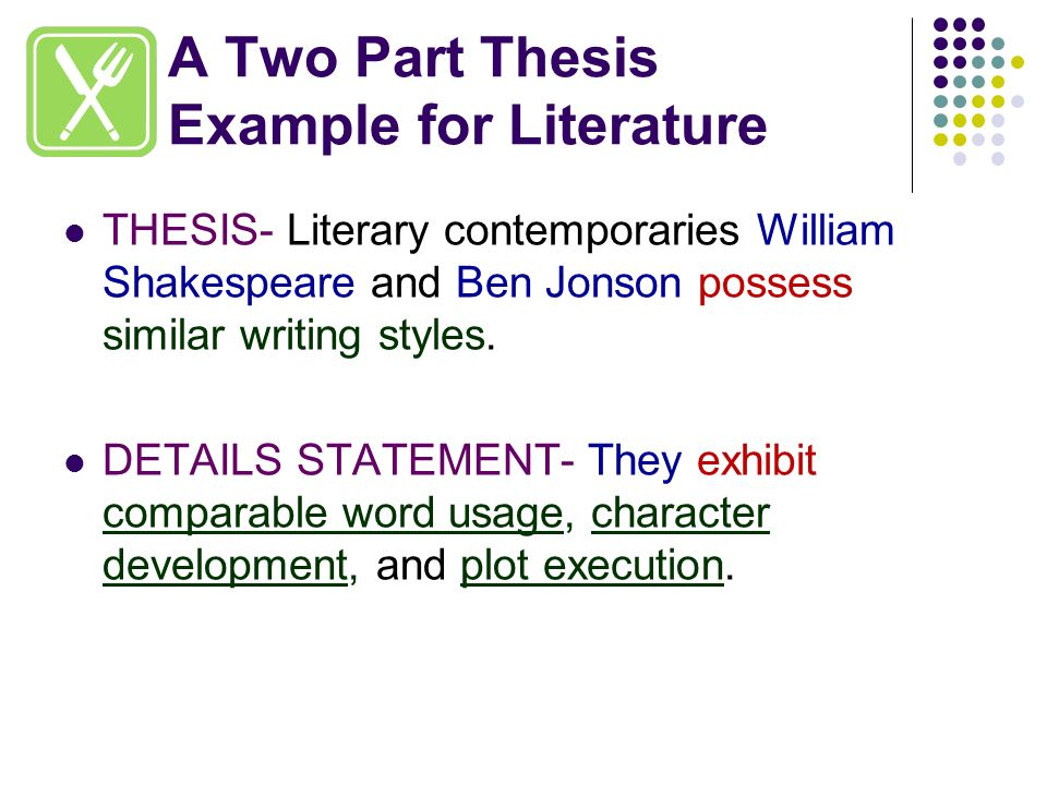 what is a thesis in literature