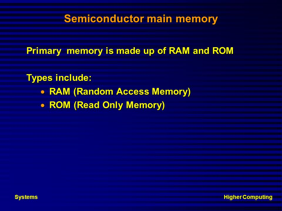 Semiconductor main memory