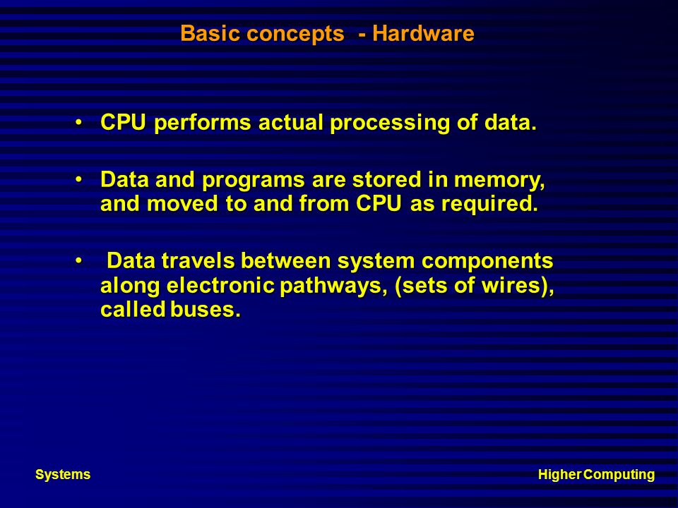 Basic concepts - Hardware