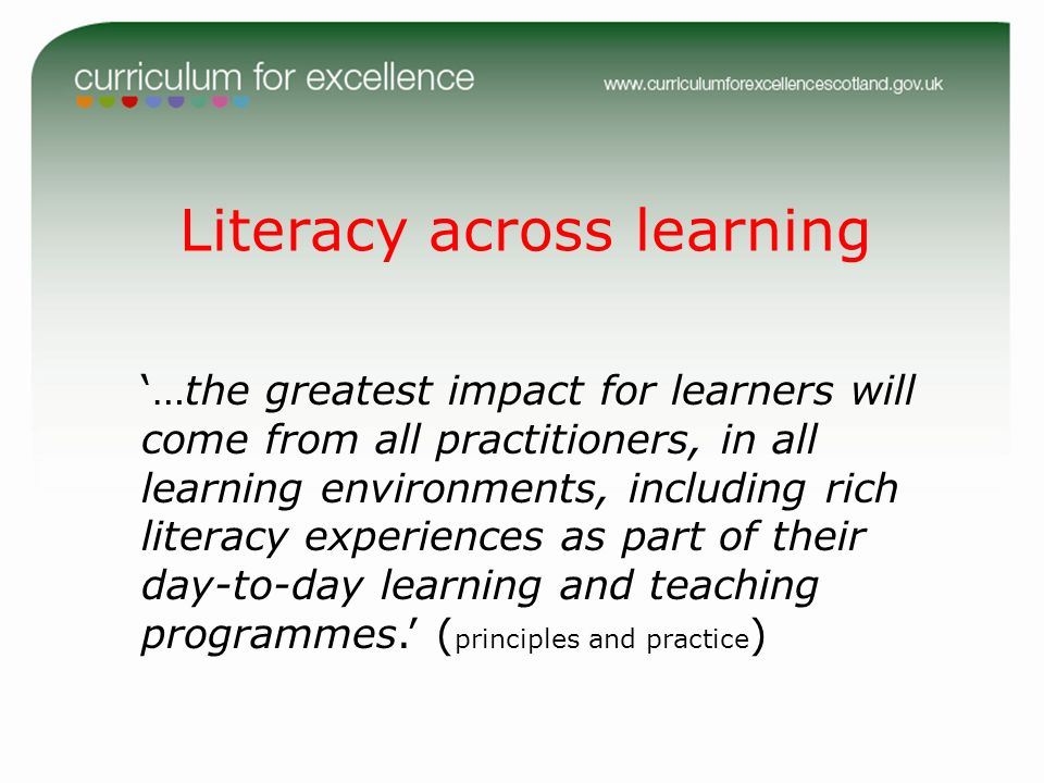 Literacy across learning