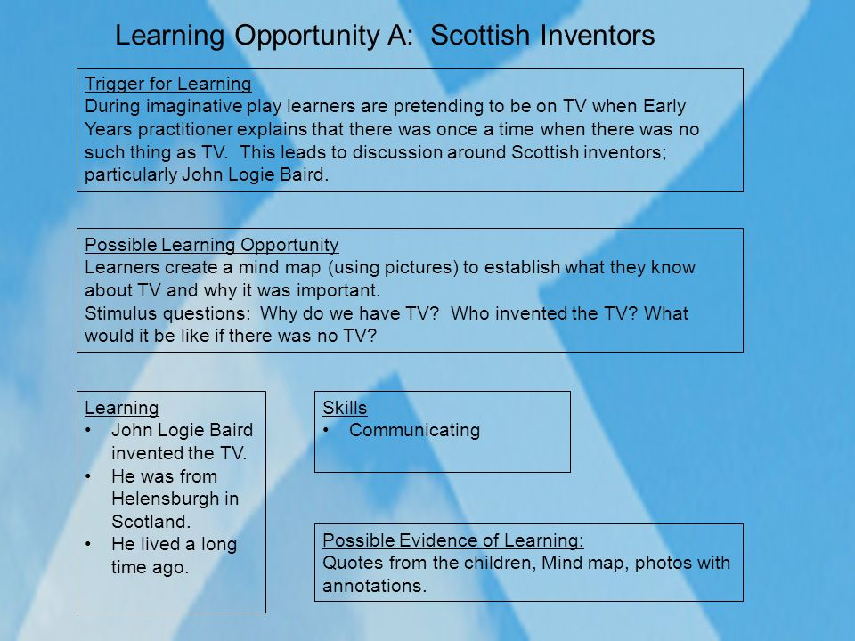 Learning Opportunity A: Scottish Inventors