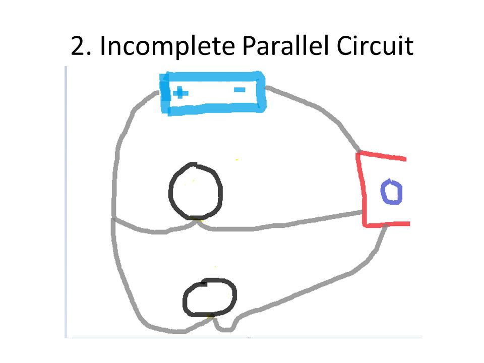 incomplete parallel circuit