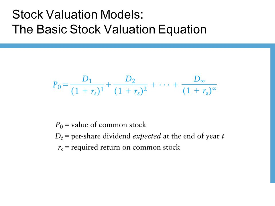 Equity valuation models chapter 18. Basic types of models.