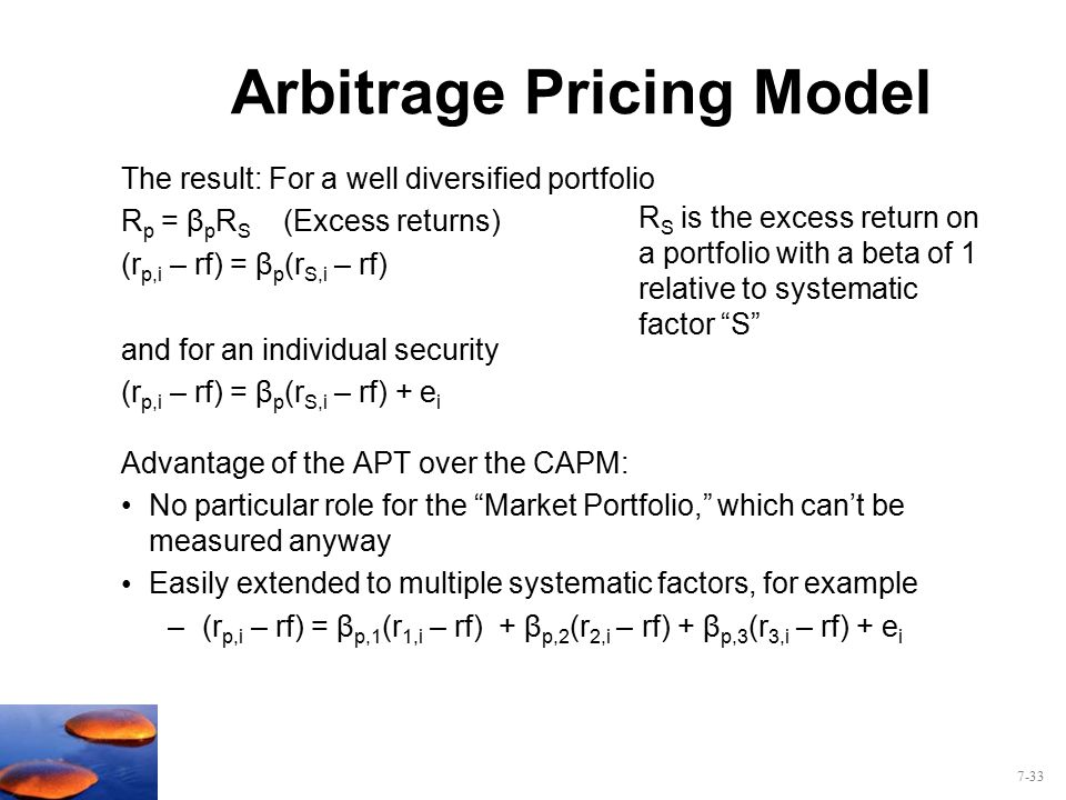 arbitrage pricing theory diagram