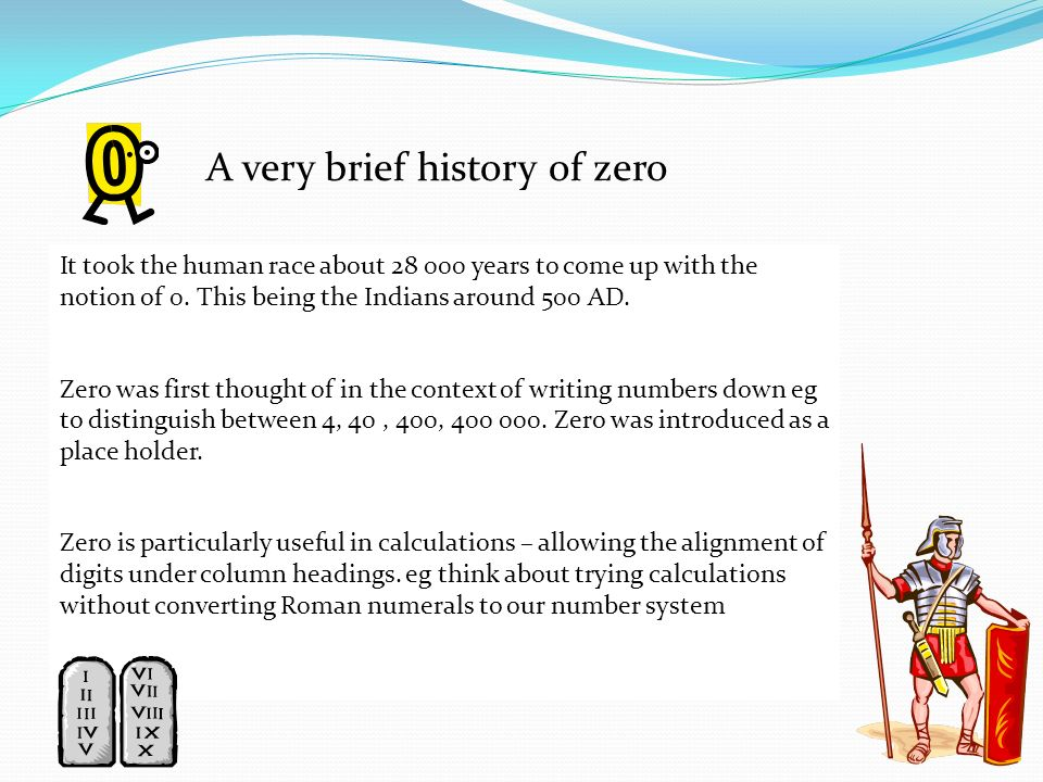 A very brief history of zero
