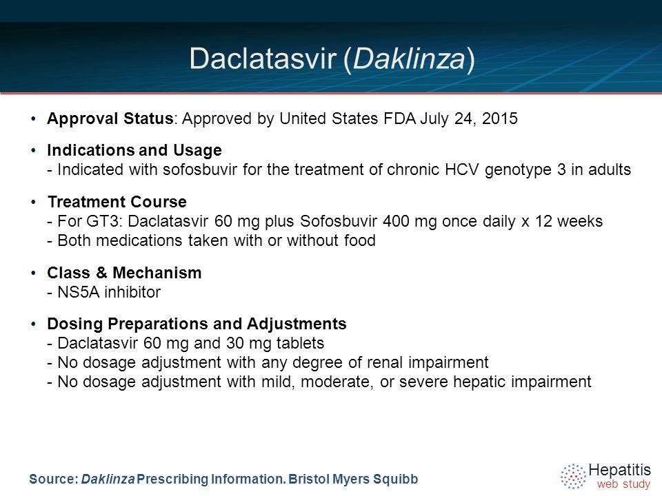 Daclatasvir (Daklinza) - ppt download