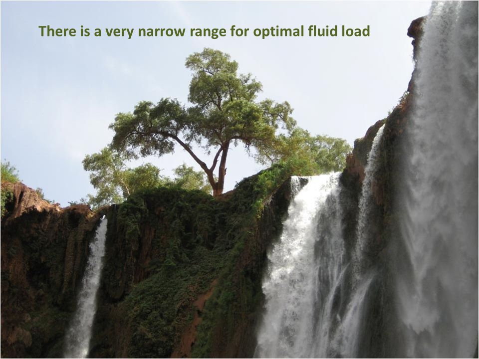 There is a very narrow range for optimal fluid load