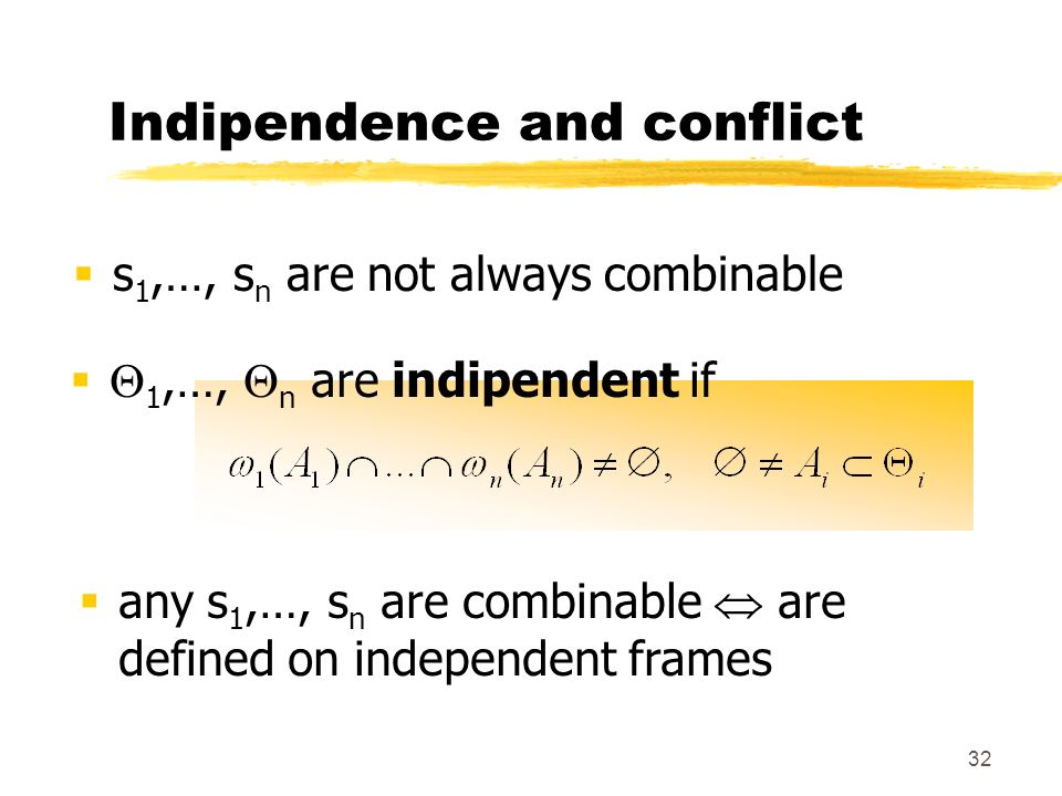 Indipendence and conflict
