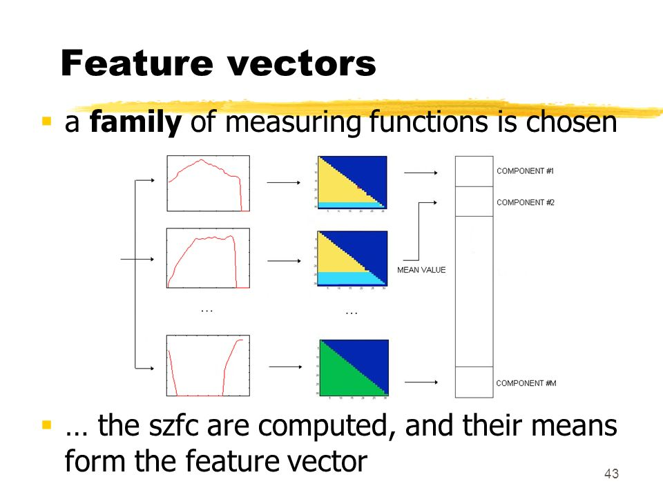 Feature vectors a family of measuring functions is chosen
