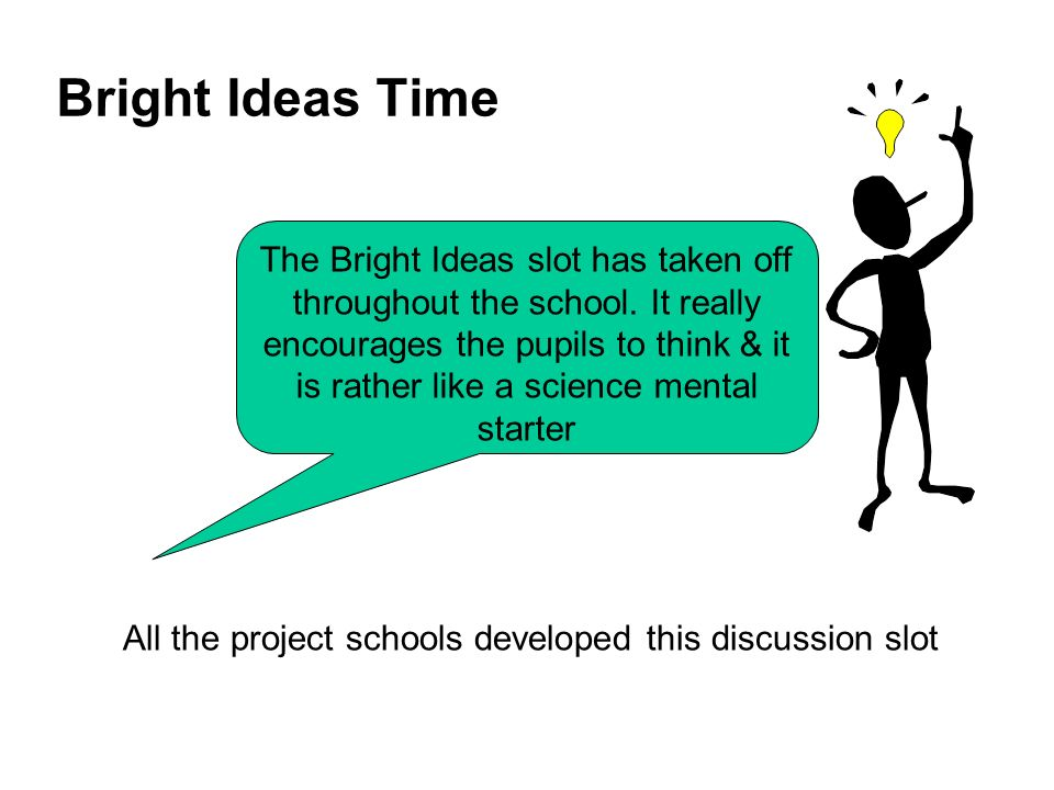Bright Ideas Time