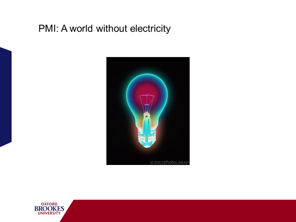 PMI: A world without electricity
