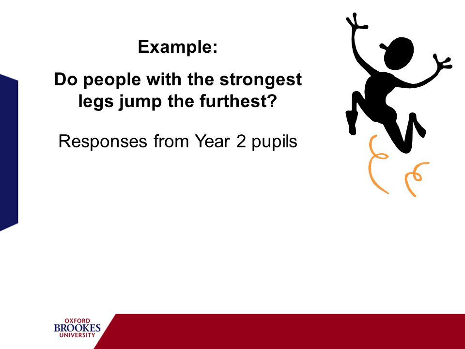 Do people with the strongest legs jump the furthest