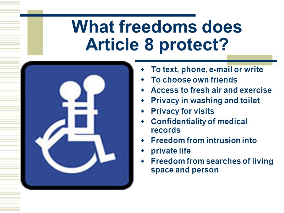 What freedoms does Article 8 protect
