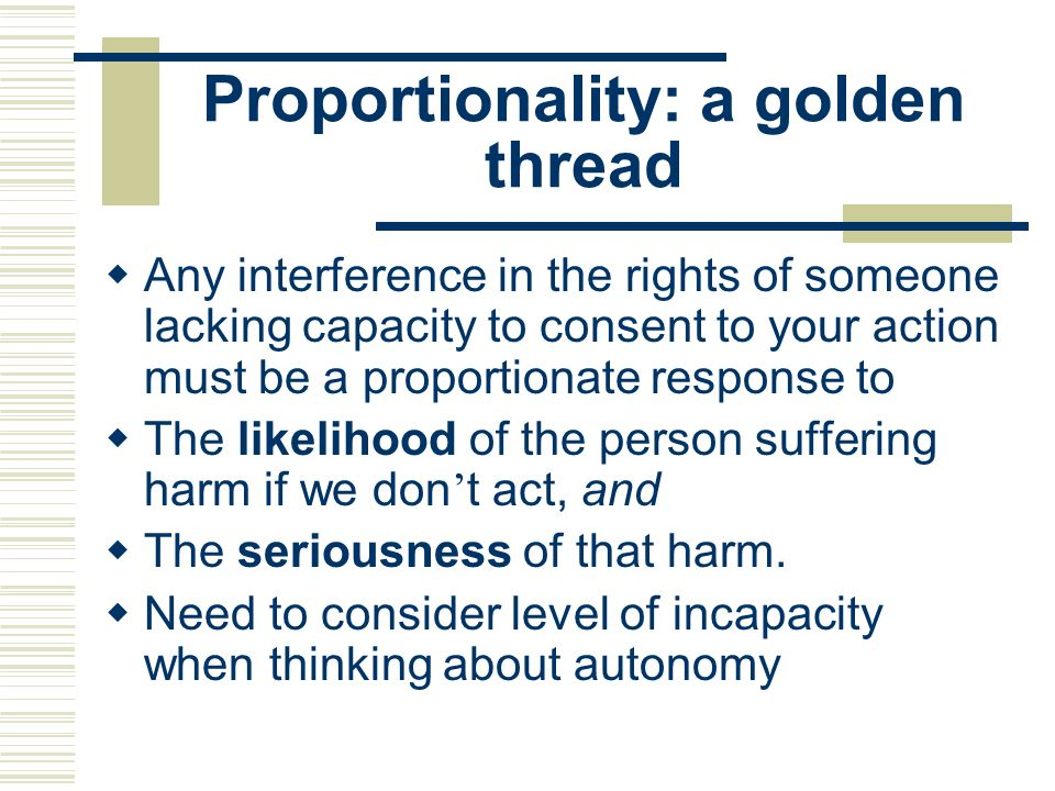 Proportionality: a golden thread