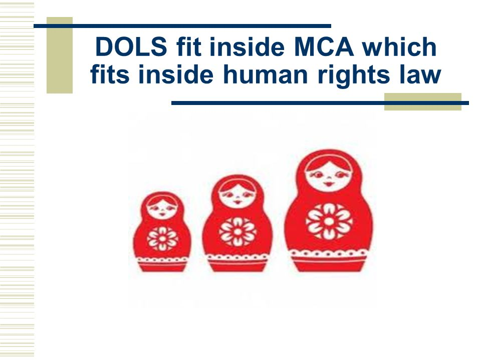 DOLS fit inside MCA which fits inside human rights law