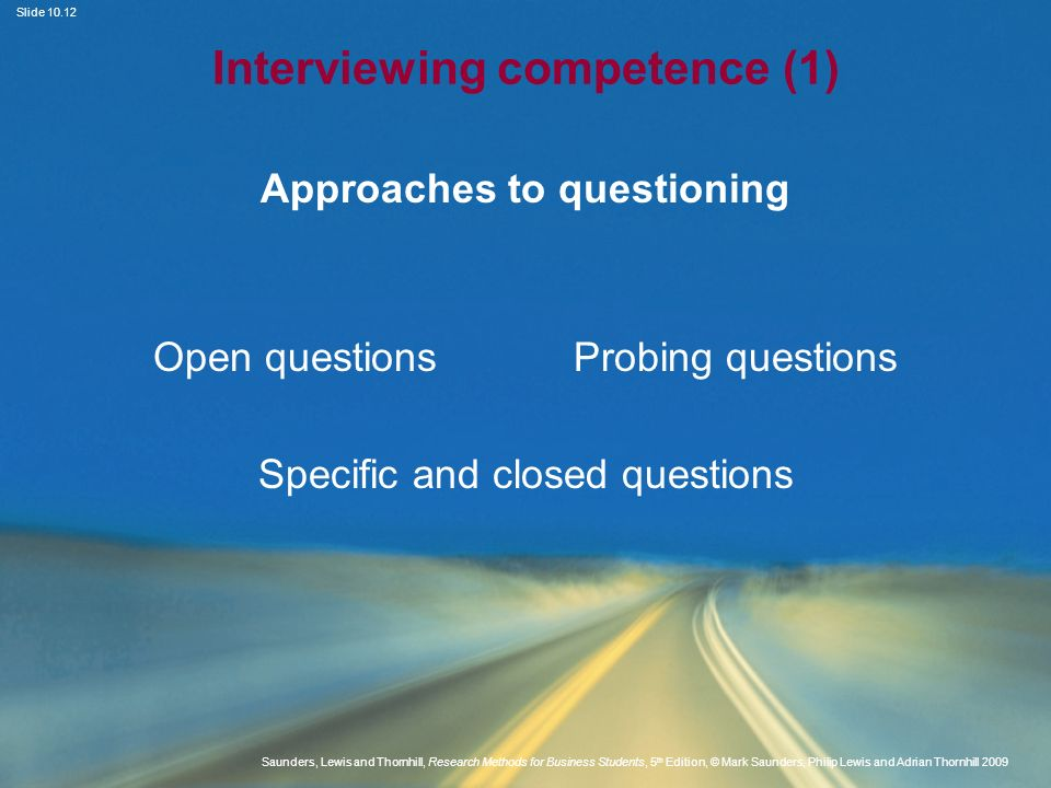 Interviewing competence (1)