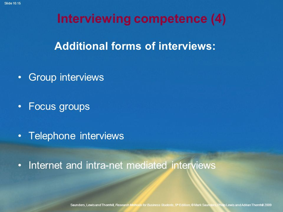Interviewing competence (4)