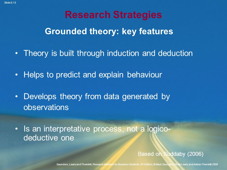 Grounded theory: key features