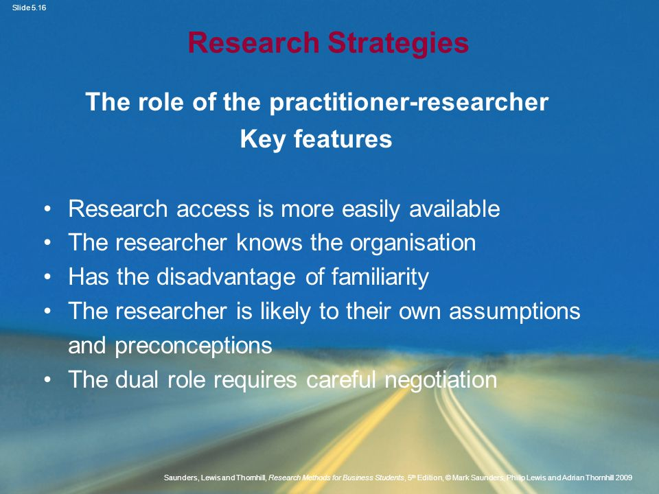 The role of the practitioner-researcher