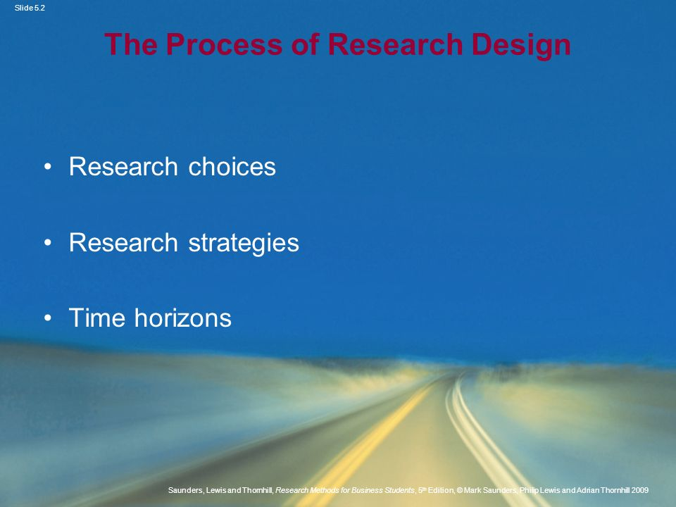 The Process of Research Design