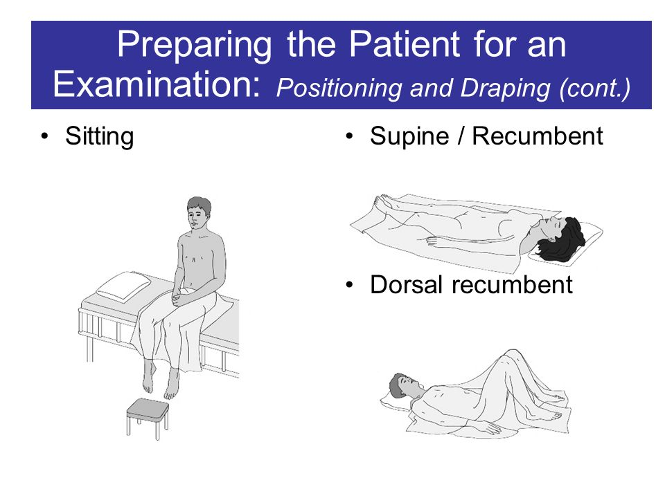 Positioning And Draping For Physical Examinations