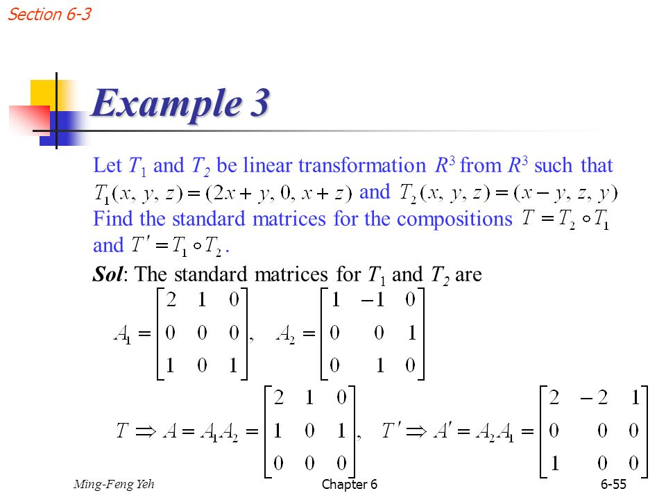 Chap 6 Linear Transformations Ppt Download